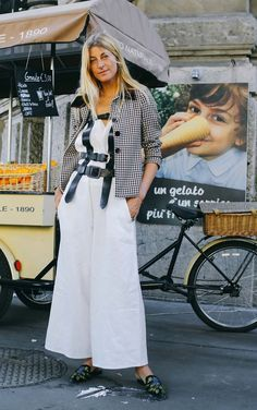 On the street at Milan Fashion Week. Photographed by Phil Oh.
