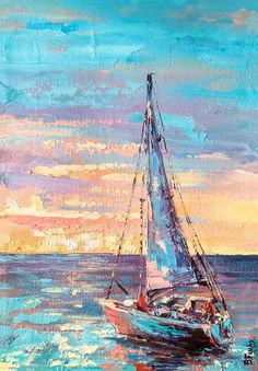 I love this magnificent sailboat painting Ship Paintings, Seascape Paintings, Oil Painting Abstract, Landscape Paintings, Abstract Sculpture, Sailboat Painting, Boat Art, Photo Wall Art, Canvas Art