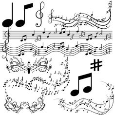 music notes art