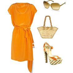 Love orange, created by tamara-dennis-valdiserri on Polyvore
