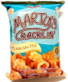 oishi-martys-cracklin-plain-salted Snack Recipes, Snacks, Pinoy Food, Salt, Chips, Vegetarian, Snack Mix Recipes, Appetizer Recipes, Appetizers