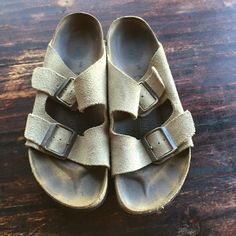Newalk sandals - licensed by Birkenstock In good used condition - no damage other than normal wear. Might be good garden shoes! Newalk Shoes Sandals