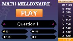 This Algebraic Expressions Millionaire Game can be played online alone or in two teams. For each question you have to identify the correct mathematical expression that models a given word expression. Mathematical Expression, Absolute Value Equations, Tools For Teaching, Teaching Math, Algebraic Expressions, Framed Words, Fifth Grade Math, Math Graphic Organizers, Order Of Operations
