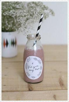 Printable_Besly_ Smoothie lait de coco, bananes et framboises