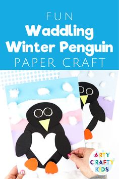 Looking for easy winter crafts for kids to make at school or at home? This easy penguin craft for kids is simple, cute, and fun! Find step by step instructions, videos, + a penguin craft template for these printable crafts for kids here! Winter Crafts For Kids, Winter Kids, Crafts For Kids To Make, Kids Crafts, Creative Activities For Kids, Creative Kids, Winter Activities, Printable Crafts, Printable Paper