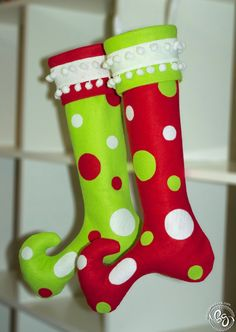 Whoville Christmas Stockings: Free Pattern and Tutorial!