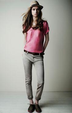 18309 Camiseta Top / 18825 Pantalones 5 bolsillos 5 Pockets Trousers / 18020 Cinturón Belt