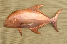 Copper fish wall art   Papio by TheJewelerAtLarge on Etsy, $150.00