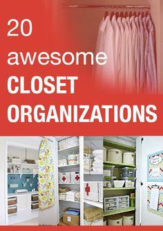 20 awesome closet organizations