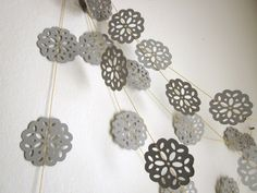 Paper Garland - Gray Clouds. $15.25, via Etsy.