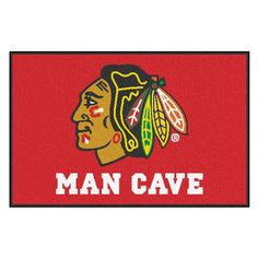 Fan Mats NHL Hockey Man Cave Indoor Mat - 14409