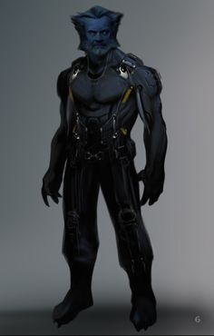 "Concept art of Beast from ""X-Men: Days of Future Past"" (2014)."