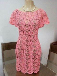 Crochet brown dress for girl Crochet Beach Dress, Black Crochet Dress, Crochet Blouse, Crochet Lace, Lace Dress, Girls Dresses, Summer Dresses, Crochet Woman, Online Dress Shopping