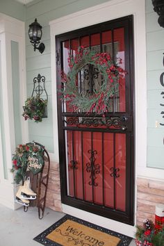 Southern Seazons: Christmas Plaids on the Front Porch