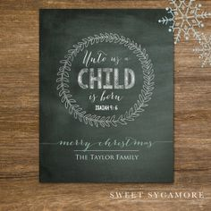 Holiday Art  Holiday Decor  Christmas  Chalkboard by SweetSycamore, $21.00