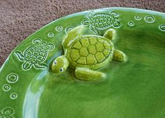 Sea Turtle Dish Plate Custom Made to Order by sunshineceramics, $25.00