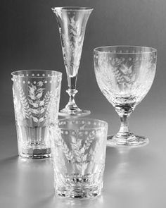 Crystal glassware pattern identification crystal for William yeoward crystal patterns