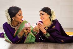 Are you guys ready to see some pictures from the shoot we did for recently? We had so much fun at the shoot… Banarsi Saree, Kanchipuram Saree, Wedding Guest Makeup, Saree Hairstyles, Saree Jewellery, Purple Saree, Rajputi Dress, Pic Pose, South Asian Wedding