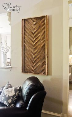 DIY Wall Art from Wood Shims DIY Wall Art DIY Crafts DIY Home