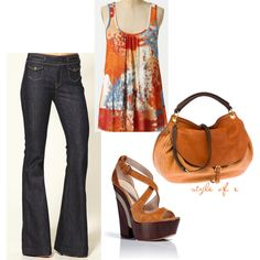 Burnt Orange, created by styleofe on Polyvore