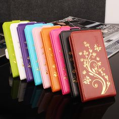 High Quality For MeiZu MeiLan Note 3 Case Leather Case Flip Cover For MeiBlue Note3 Case Phone Set 9 Colour Golden Flowers