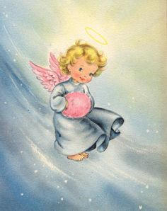 Vintage Greeting Cards, Vintage Christmas Cards, Pink Christmas, Christmas Images, Vintage Holiday, Christmas Greeting Cards, Christmas Angels, Christmas Greetings, Vintage Postcards