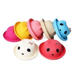 $30.9    Lovely Panda Design Candy Color Children Straw Hat  Bowknot Decor Kids Sun Beach Cap http://www.eozy.com/lovely-panda-design-candy-color-children-straw-hat-bowknot-decor-kids-sun-beach-cap.html