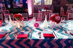 Hot Pink and Blue Chevron Torpedo Factory Wedding | Real Weddings | Washingtonian Bride & Groom