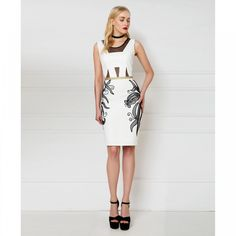 Dress with gold belt