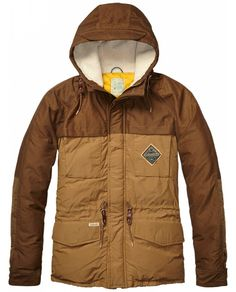 Colour Block Down Jacket > Mens Clothing > Jackets at Scotch & Soda - Official Scotch & Soda Online Fashion & Apparel Shops