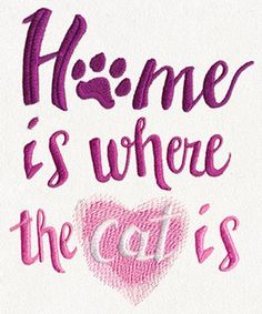 Home Is Where the Cat Is | Urban Threads: Unique and Awesome Embroidery Designs