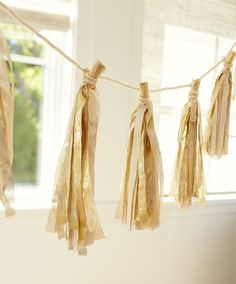 DIY gold tassels are party perfect