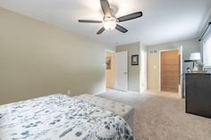 This gorgeous master bedroom is in the perfect home for a young family in Chesterfield, Missouri. Home Staging Companies, Young Family, St Louis, Master Bedroom, Furniture, Home Decor, Master Suite, Decoration Home