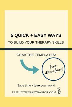 5 Ways to build therapy skills that won't cost you money, and take very little time.  Click through for the free list!