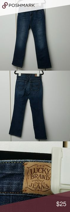 Lucky classic rider jeans Lucky jeans. 29 inch inseam 8.5 inch rise. 99% cotton 1% spandex. Size 4/27. These jeans are in great shape with no wear on the bottom. Lucky Brand Jeans