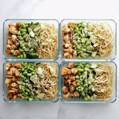 Sesame Noodle Bowls Meal Prep Sesame Noodle Bowls Forktwirly noodles an easy creamy sesame sauce perfect browned chicken and all the veg YUM Healthy Meal Prep, Healthy Snacks, Healthy Eating, Healthy Recipes, Dinner Healthy, Healthy Drinks, Healthy Weight, Meal Prep Salads, Easy Lunch Meal Prep