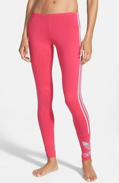 Adidas Originals Three-Stripe Leggings, $30 | 50 Pieces Of Cute And Affordable Workout Gear You'll Actually Want To Sweat In  Workout Clothes for Women | Tights | Gym Clothes #health #fitness | SHOP @ FitnessApparelExpress.com