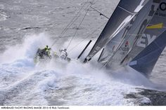 Photo by Rick Tomlinson - Team Brunel 5 sail reaching in extreme conditions off Cape Horn. I was part of a three man team that went to Cape Horn t...