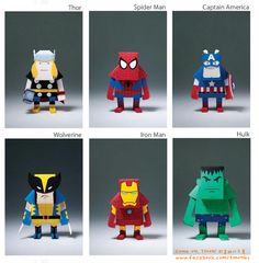 Superhéroes de papel / Paper superheroes