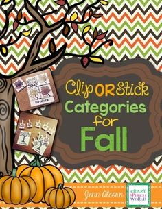 Crazy Speech World: Interactive Categories for Fall Speech Therapy by Jenn Alcorn