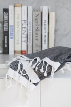 Gorgeous mini turkish hand towels available at www.tonicliving.com Gelato, Black