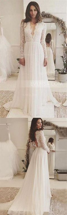 a355594e18e Fashion White Long Sleeves Backless Tulle Wedding Dresses Lace Bridal Gowns