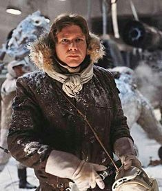 Star Wars Han Solo, Star Wars Film, Han Solo Jacket, Woman Movie, The Empire Strikes Back, Harrison Ford, Celebrity Hairstyles, Parka, Hooded Jacket