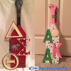 Updates from LeFleurCreations on Etsy Aka Sorority Gifts, Sorority Paddles, Sorority And Fraternity, Delta Sigma Theta Apparel, Alpha Sigma Alpha, Theta Crafts, Sorority Crafts, Alpha Kappa Alpha Paraphernalia, Black Fraternities
