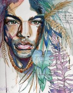 This page showcases the traditional and digital works of upcoming artist, Natiq Jalil Watercolor Portraits, Watercolor Art, Painting Portraits, Paintings, Rasta Art, Drawing Sketches, Drawings, Sketching, Alcohol Ink Painting