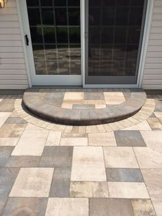 What pattern will you choose? Artistic Pavers created this beautiful entryway using Cambridge Pavingstones with ArmorTec.