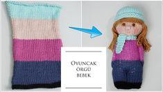 Bundan daha kolayı yok oyuncak örgü bebek It's no easier than this baby knitting toy Baby Knitting Patterns, Knitted Doll Patterns, Knitted Dolls, Loom Knitting, Crochet Dolls, Knit Crochet, Worry Dolls, Boy Doll, Amigurumi Doll