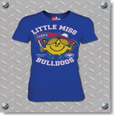 Gorgeous Western Bulldogs Little Miss Bulldogs Tee $34.95