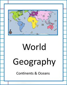 NEW DOWNLOAD: WORLD GEOGRAPHY - CONTINENTS & OCEANS. Download this 22 page unit - There are 10 worksheets with answer keys! Download Club members can download @ http://www.christianhomeschoolhub.com/pt/World-Geography-Teaching-Resources--Downloads/wiki.htm