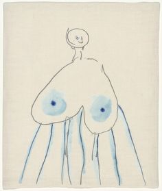 Louise Bourgeois [primarily a sculptor, but her simple paper drawings are strangely haunting. There's maybe some of her female spider imagery going on here....]